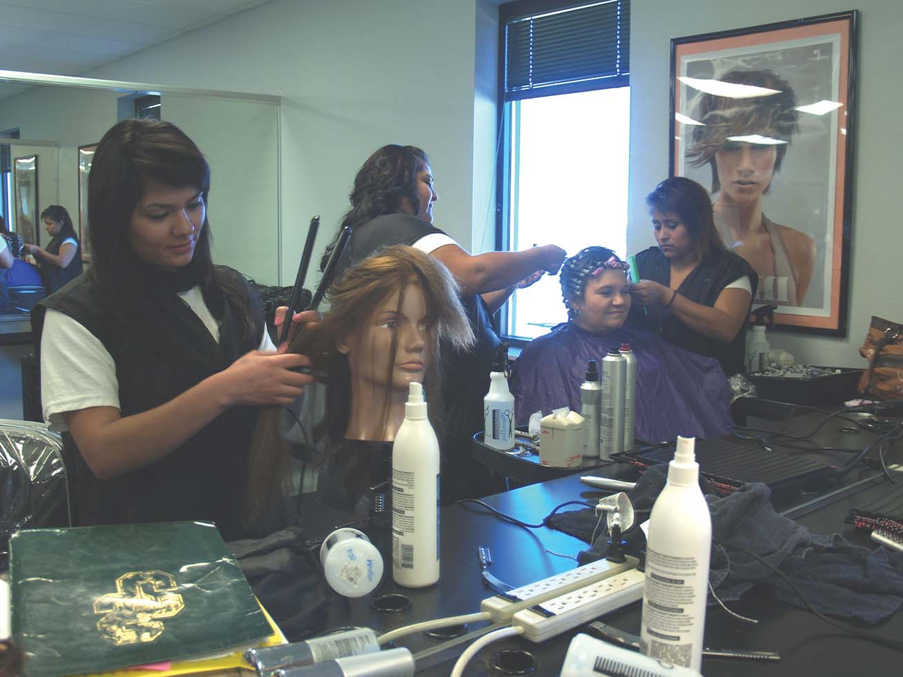 Cosmetology students prepare for fashion show