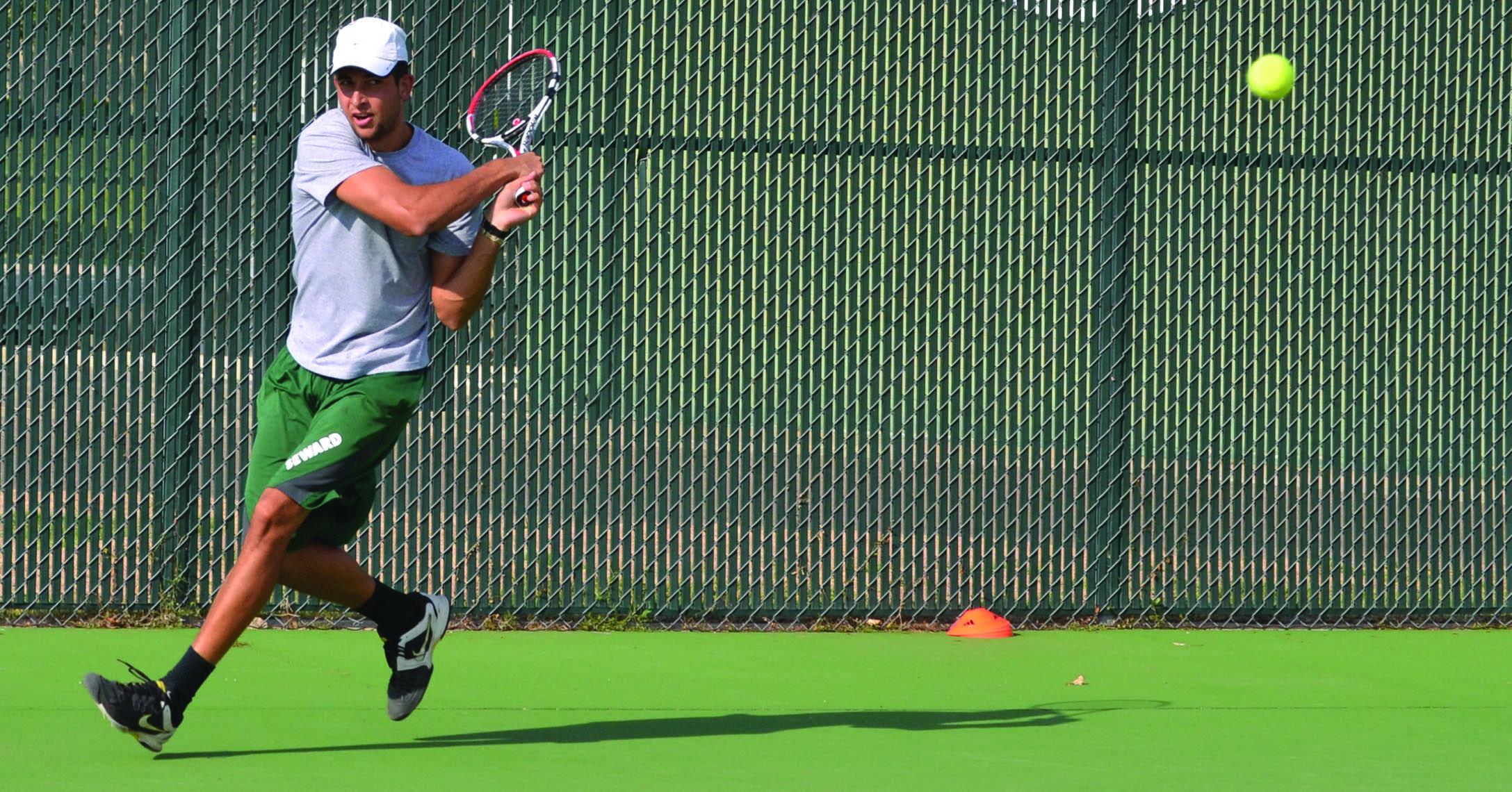 Saints and Lady Saints tennis teams face tough matches against four-year colleges