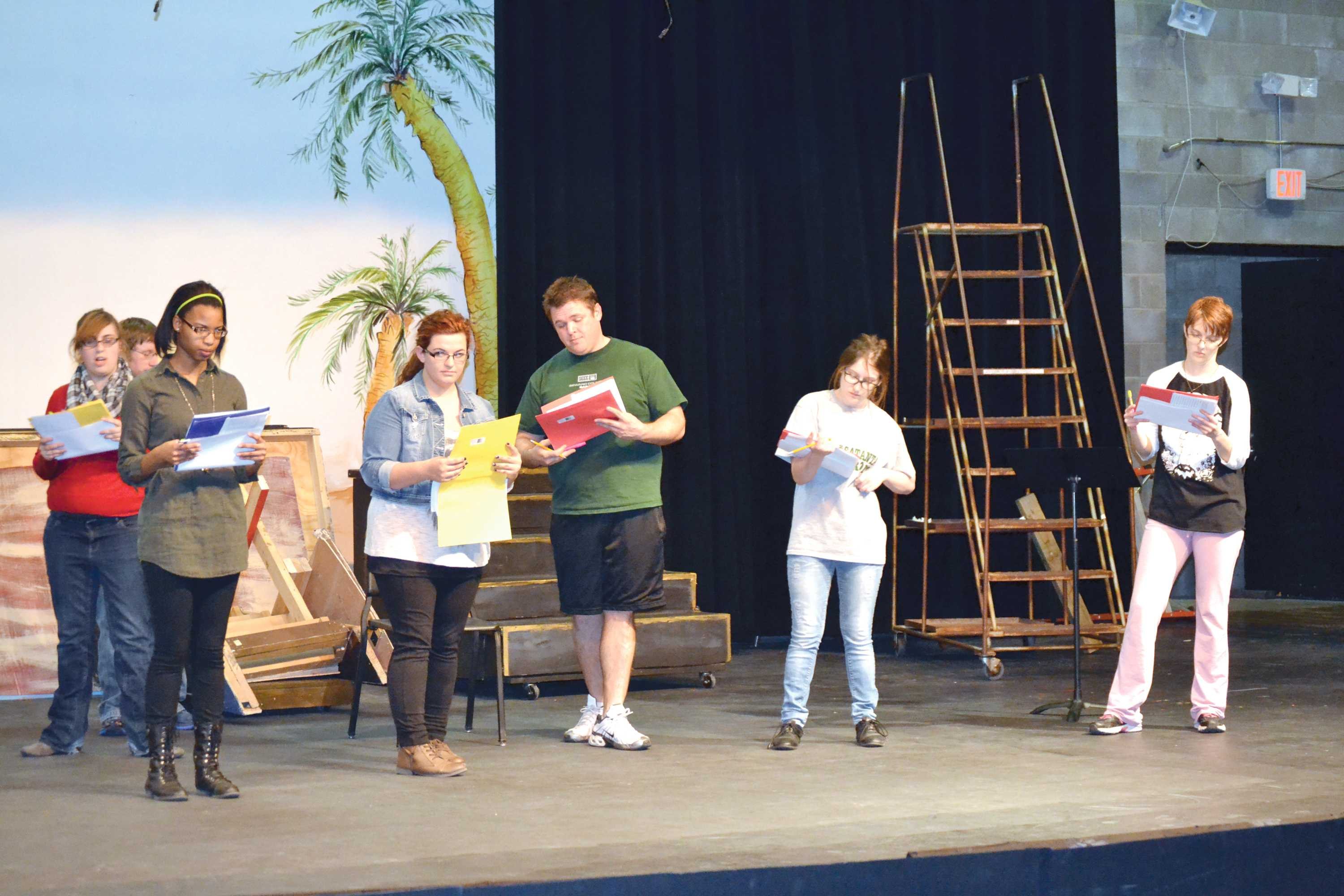 Cast prepares for outer space play