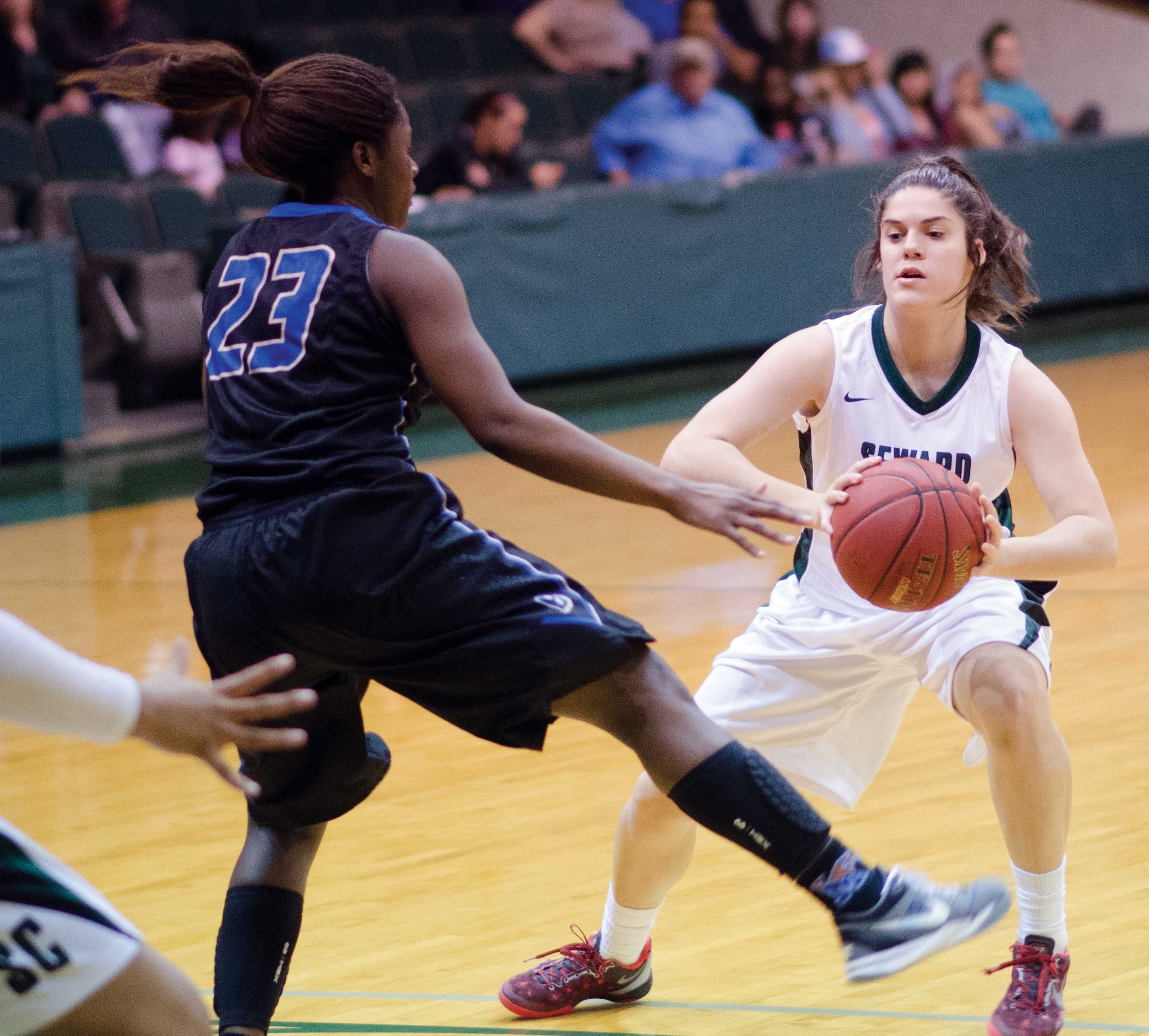 Lady Saints earn home court advantage for Saturday playoffs