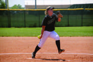 Courtesy photo/Roy Allen Alexa O'Brien finished her last season with the Lady Saints at 36-25 overall and with a total of 141 strikeouts.