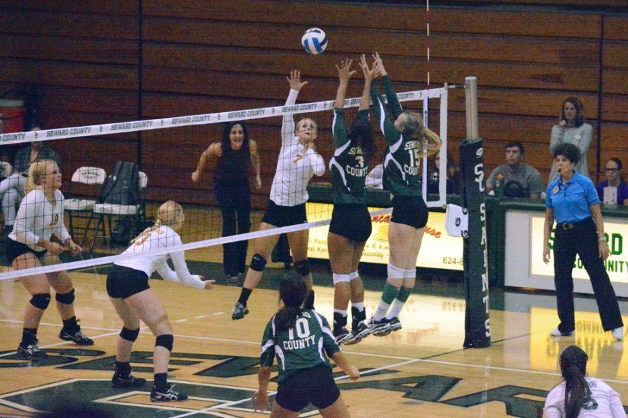 Lady Saints take down Garden City Busters in 3-0 sweep