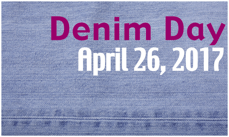 Wear Denim on Wednesday April 26