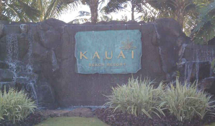 The beach resort in Kauai that Martinez and Pacheco stayed at for a week.