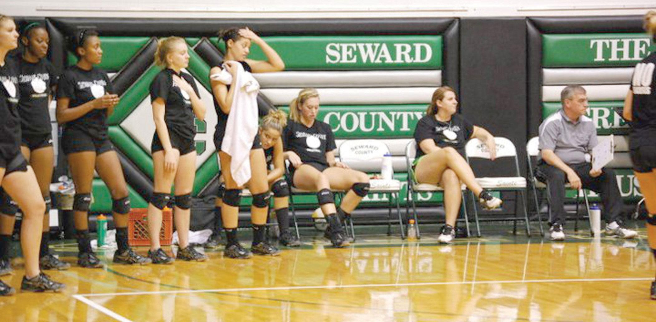 Talk about a heated practice... Lady Saints endure hot times in Green House