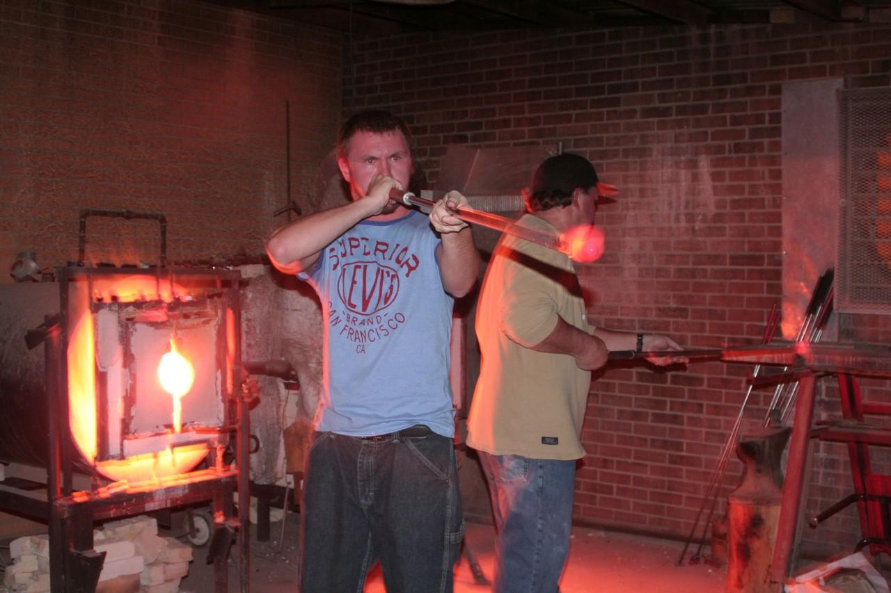 GLASSBLOWING: Playing with fire