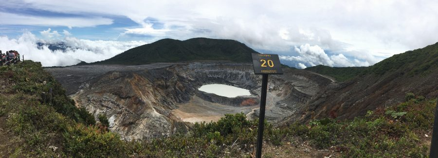 The view from the top of a crater in Costa Rica. SCCC's Field Biology class took a trip as part of their studies over the summer.