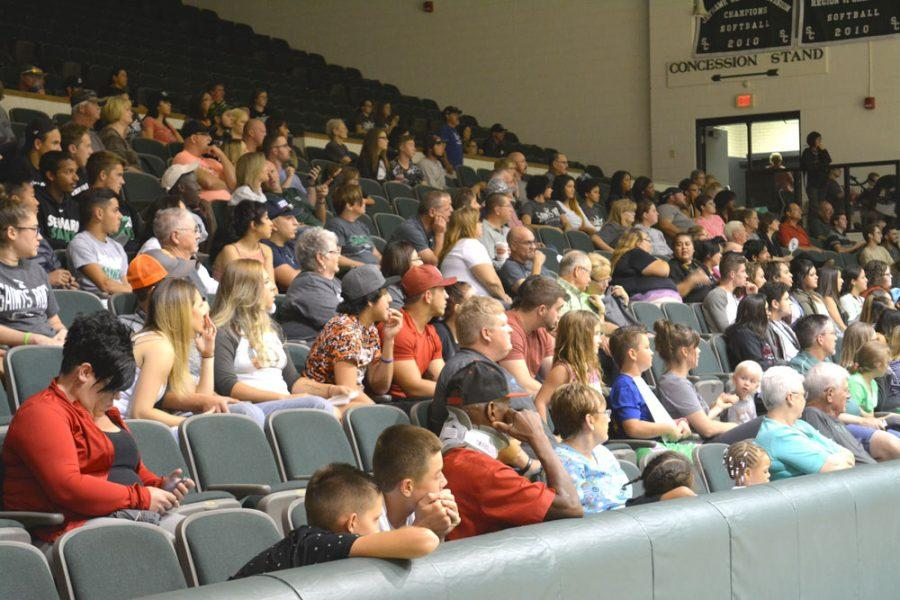 Seward County community members come out to support the Saints in the annual Saints Bookstore Basketball Preview Night. The Greenhouse was filled with ooh's and ahh's as the teams showed off their skills during the competition.