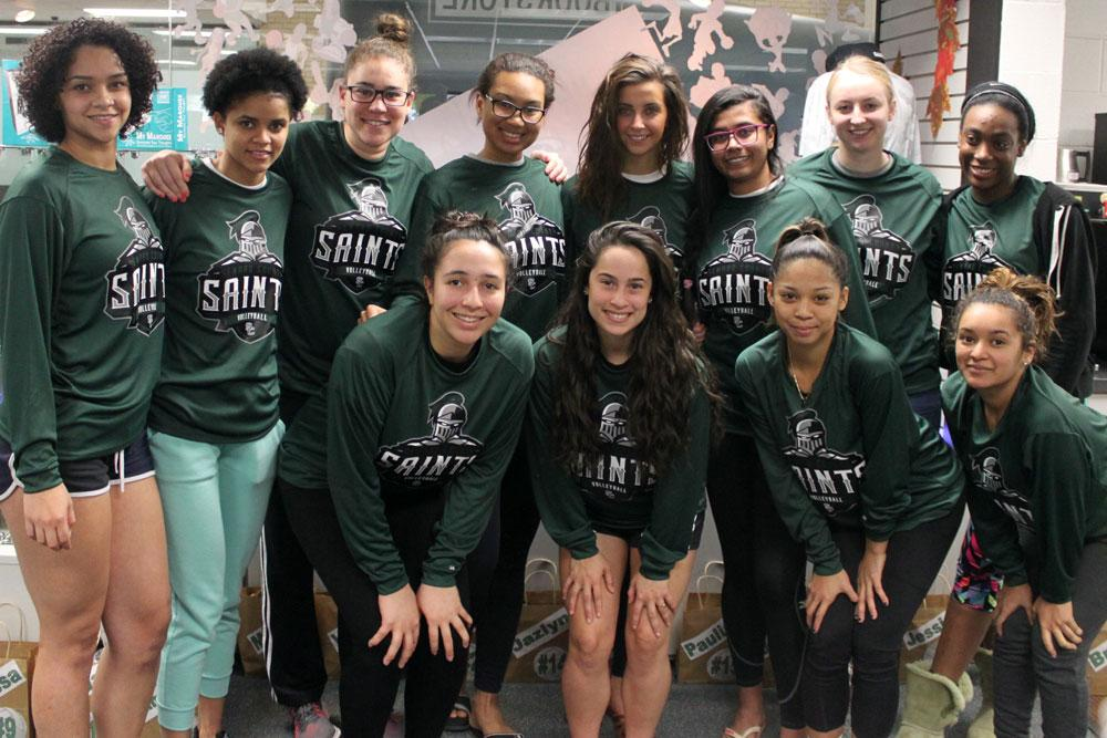Lady Saints Volleyball team 2016. Seward County has drawn the 11-seed and will play 6-seed Polk State on Thursday, Nov. 17 in Casper, Wyo.