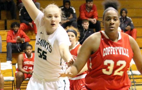 Lady Saints remain undefeated after close victory over Coffeyville