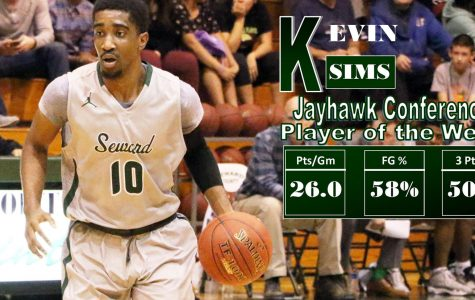 Kevin Sims named Jayhawk player of the week