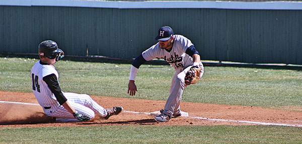 Rookie Jacob Nielsen, hustled back to a respectable starting point to abstain from getting an out for the saints.