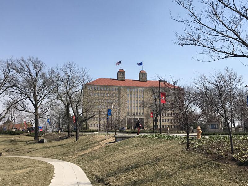 Fraser Hall is the second highest point on Mount Oread. This building includes Anthropology, Sociology, and Psychology which are a few majors that are included in Fraser Hall.