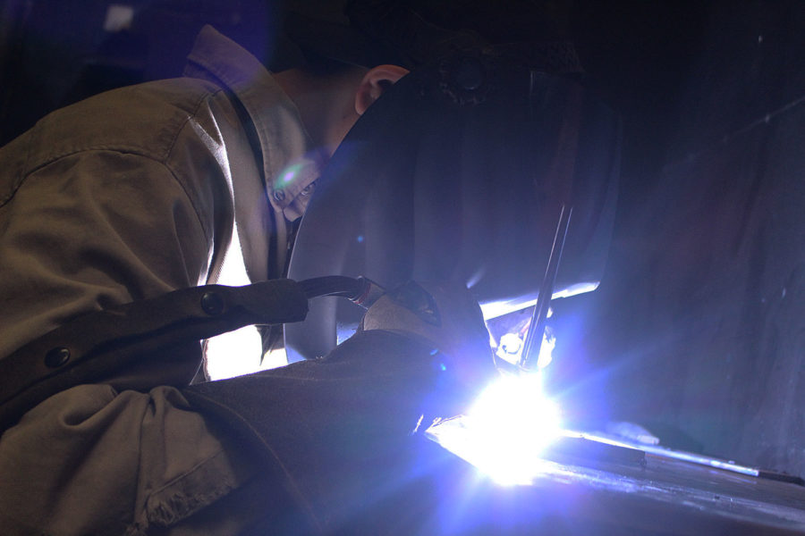 Freshman Jesus Magallanes, wanted to weld since he was a sophomore in high school. Mig welding is a circular segment welding process in which a ceaseless strong wire anode is encouraged through a welding weapon and into the weld pool, joining the two base materials together.