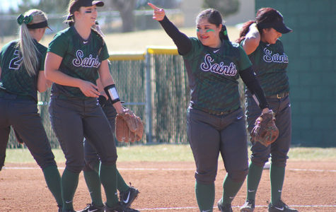 Ashley leads Lady Saints to split