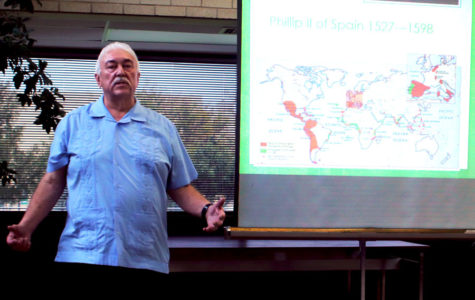 Gene T. Chavez presents for Hispanic Heritage Month