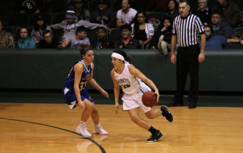 Lady Saints struggle for victory over Frank Phillips College