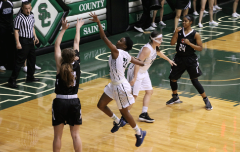 Lady Saints fall short to a buzzer beater