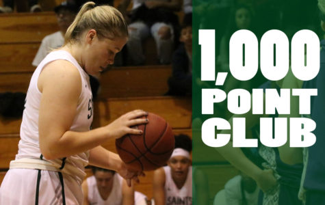 Sophomore, Mollie Mounsey, was the eighth Lady Saint to score 1.000+ points on January 10 against DCCC. Mounsey has scored 1,008 points so far.