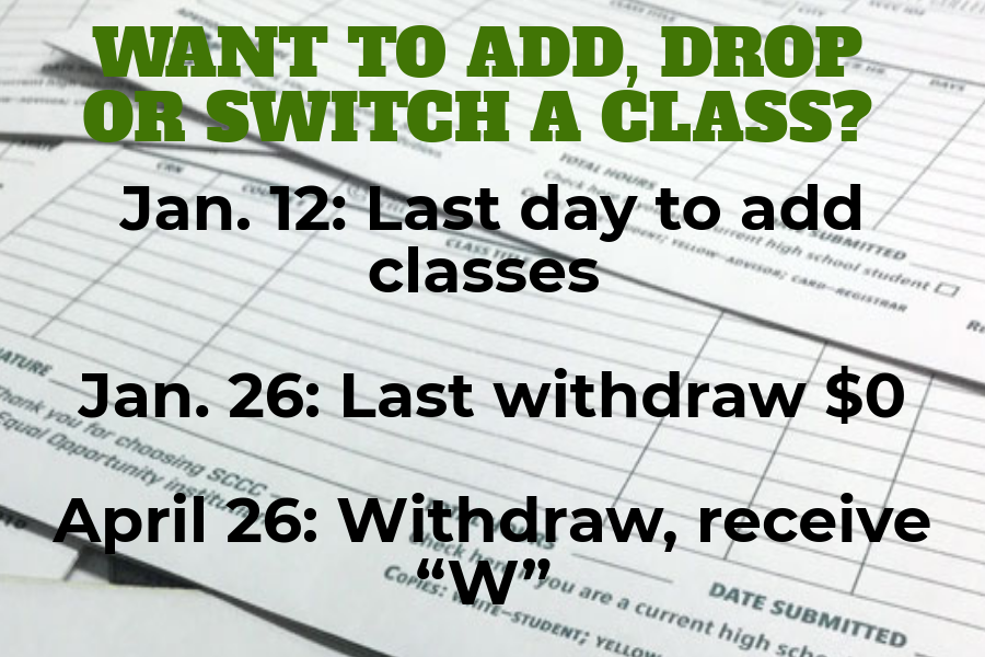 The dates listed are important dates to remember if you are planning on changing your class schedule.