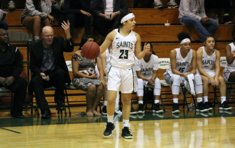 Lady Saints end regular season with a 22-point win