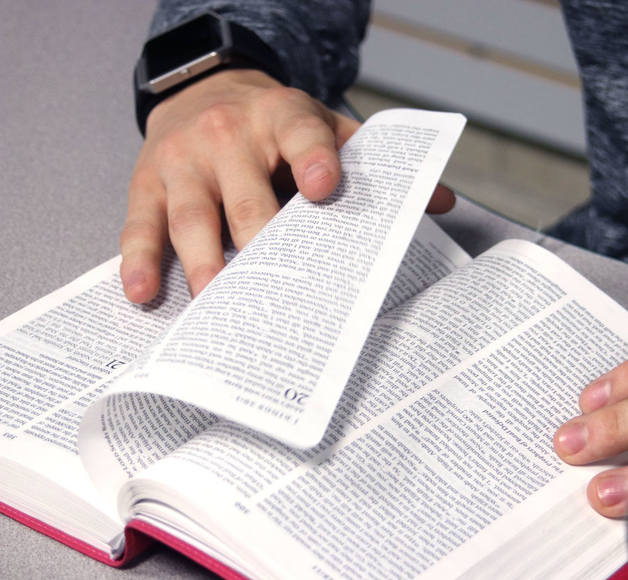 It's easy to fit in a short devotional each day for members of SCCC's Campus Messengers for Christ now that it's all done via an App and text messaging.