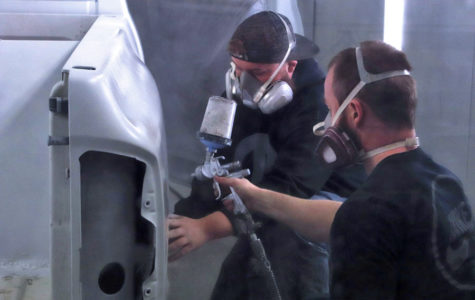 Photo Essay: Students get hands-on experience with auto body projects