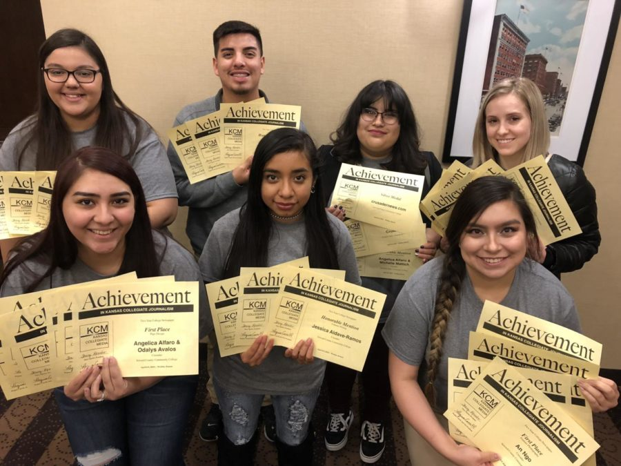 Crusader earned 24 awards, including silver overall for the website. Staff members also won 22 individual awards at the annual Kansas Collegiate Media contest, April 8-9 in Wichita.