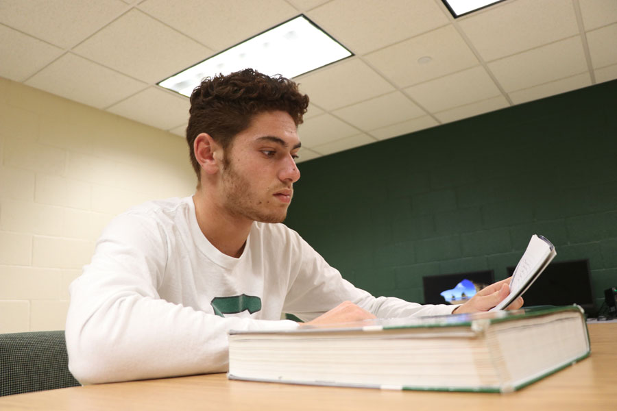 When Rousset is not practicing his tennis skills, he is studying for classes. Rousset has As and Bs in all of his classes at SCCC.