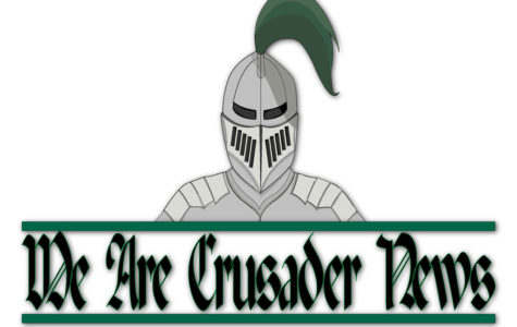 Crusader News unveils a new masthead and social media icons. SCCC graphic design student Taycee Ruiz created the design. She made a t-shirt design such as this one, as well as the new header that you'll find at the top of the website. Check out the new social media icons on our facebook, instagram and twitter pages.
