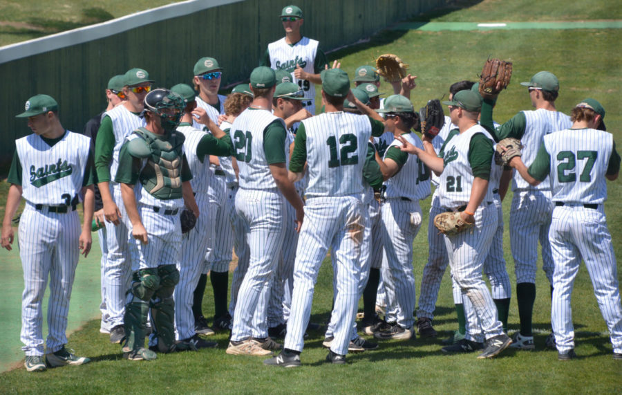 SCCC sports teams use huddle to bring good luck and teamwork from the teams.