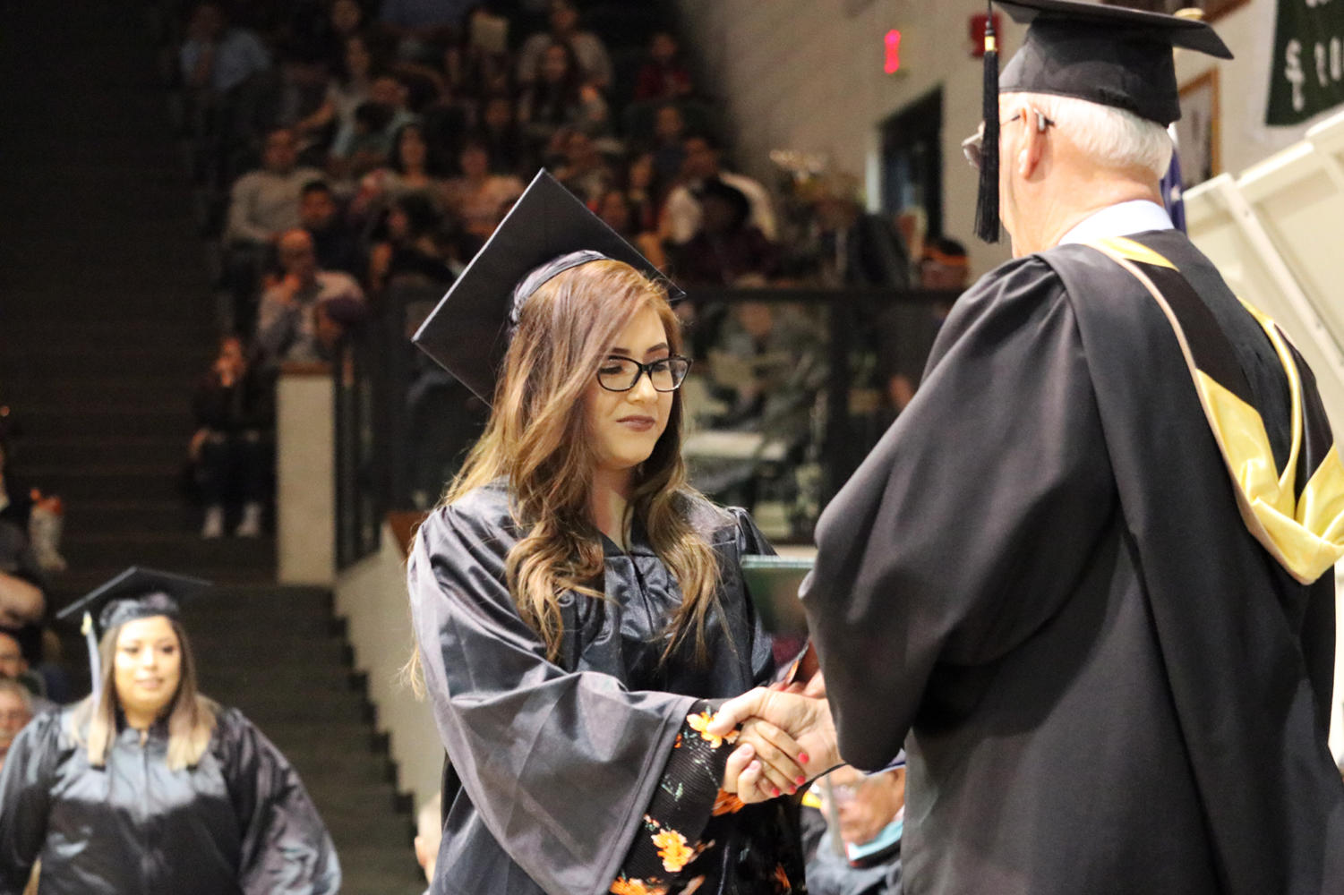 Many students graduated with associates or certificates, and some even will graduate with their associates and will receive their high school diploma.
