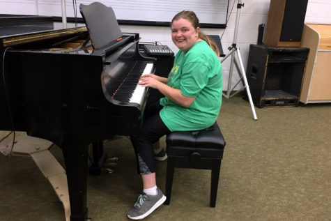 Brittany Brooks is a music major from Tyrone, Oklahoma. In her free time, Brooks enjoys going to church, hanging out with friends and singing. She hopes to someday make a career out of singing and even teach it.