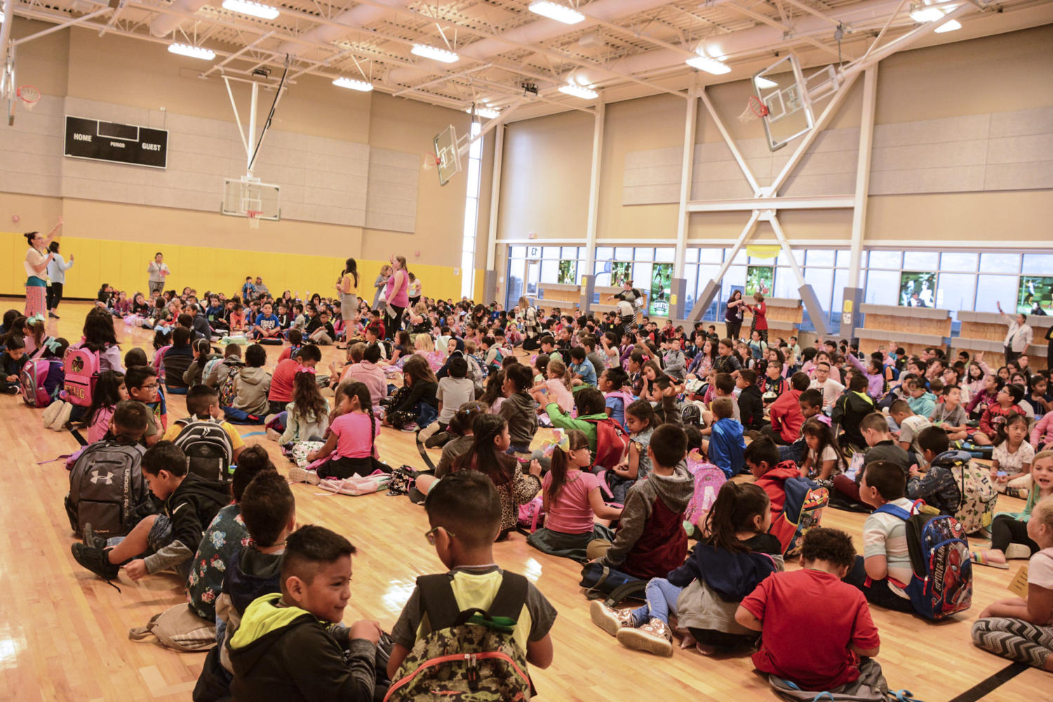 +Prairie+View+students+were+getting+ready+to+be+dismissed+to+class.+After+listening+to+Janeth+B.+Vasquez+adviser+from+SCCC+talked+about+Hispanic+Heritage+Month.