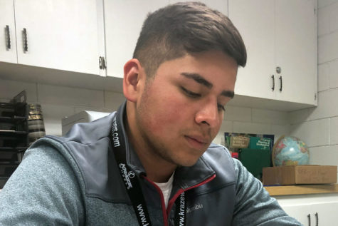 Miguel Perez, a freshman pre-engineering major from Ulysses, Kansas chose pre-engineering as his major because of the impact that his simple engineering classes in high school had on him.