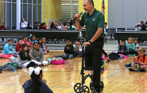 Students at Prairie View were eager to have president of Seward County Community College, Ken J. Trzaska, talk to them about Hispanic Heritage Month. Trzaska was excited as well to be involved with the kids and the community.