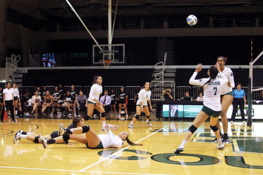 The Lady Saints defeated  the Dodge City Conquistadors on Wednesday, September 12, with a score of 3-0.