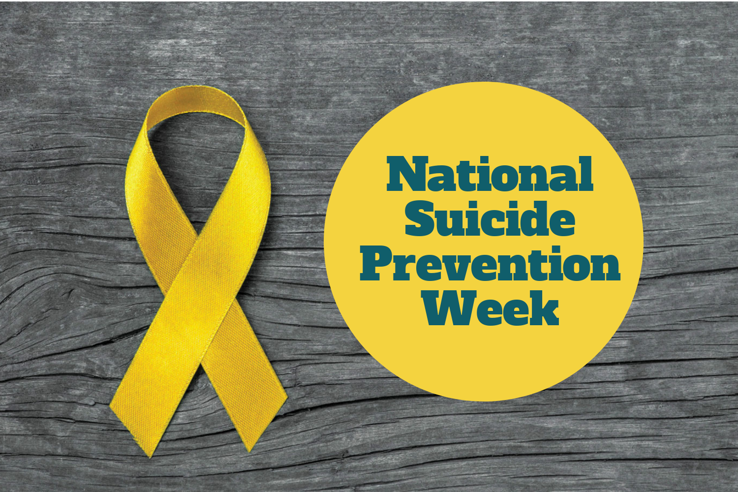 SCCC is giving out yellow ribbons for Nation Suicide Awareness Month.