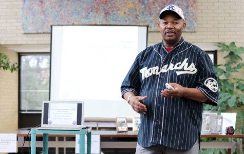 Phil S. Dixon, Negro League author and baseball historian, came to the SCCC library to share the history of the negro baseball league.