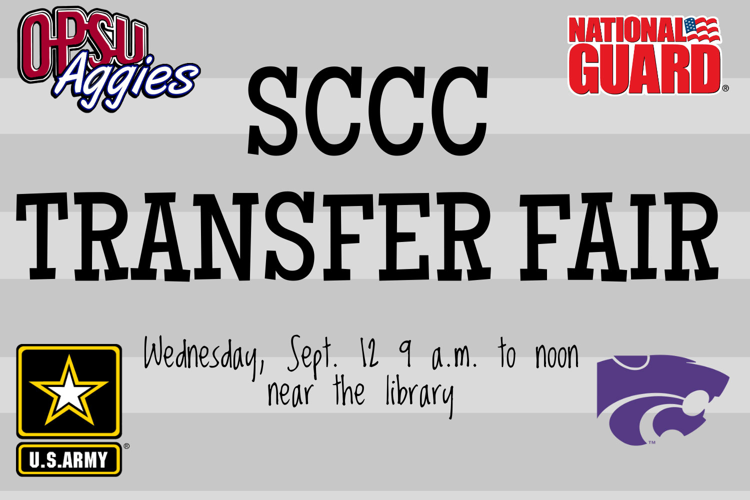 There will be many four-year colleges, along with the Army and National Guard at the Transfer Fair.