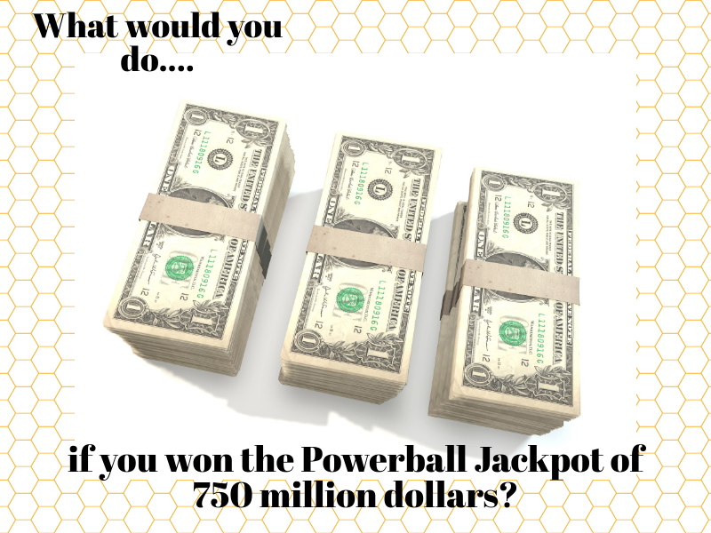 The jackpot is being drawn this weekend. What would you do?
