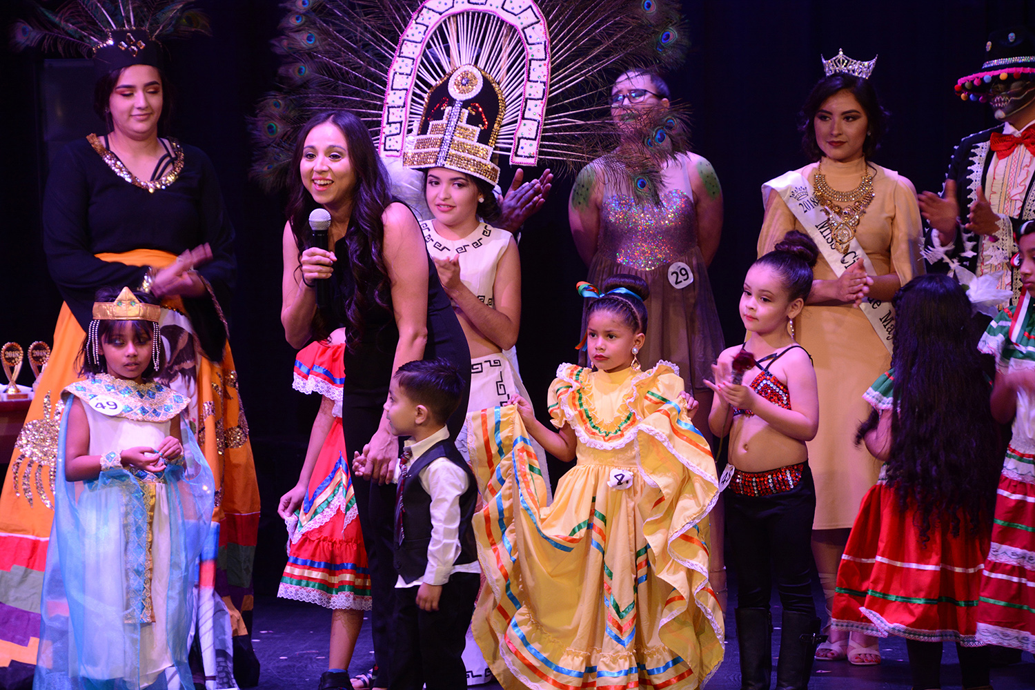 Janeth Vasquez, SCCC's transfer advisor,  hosted the Multicultural Fashion show to showcase  diversity in Liberal. Despite snow keeping some of the participants away, the show featured cultures from Ghana, American Indian, Hispanic and more.