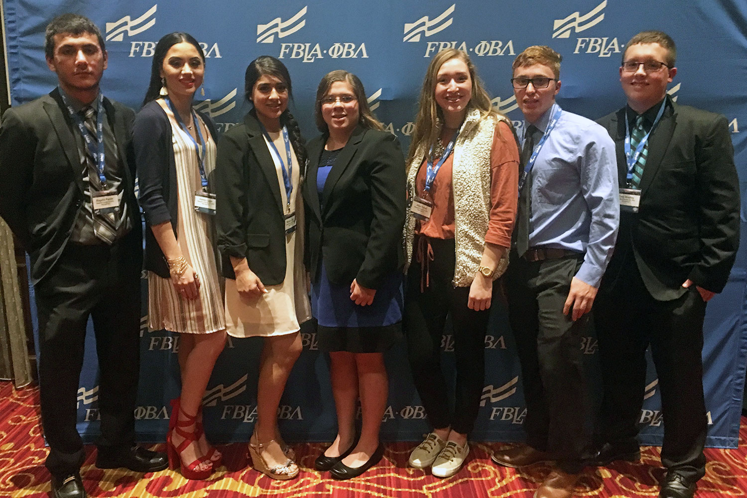 SCCC's business club, Phi Beta Lambda attended the first ever PBL Career Connections Conference in New York City. Featured left to right are the PBL members who attended the conference. Rogelio Pando, Haley Lujan, Miriam Lima, Mariah Behrns, Alba Torres, Bryce Minor, and Cody Bradley.