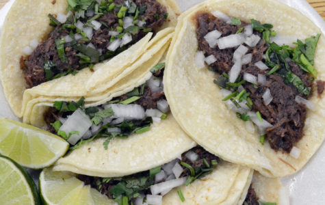 At las delicias, a taco plate is $6 and comes with five tacos, salsa and limon.