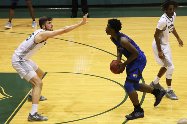 The No. 17 Seward Saints earned a spot for the Jayhawk West Conference title on Feb. 16. The Saints won 84-80 in the greenhouse, making it their sixth win in a row.