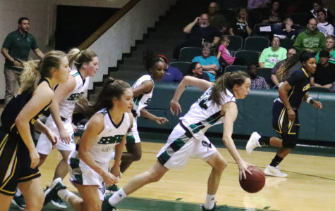 Lady Saints scare crowd with a close win