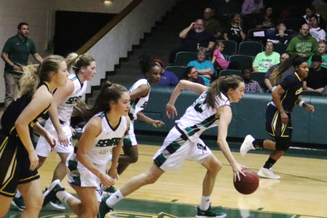 Lady Saints dominate with threes