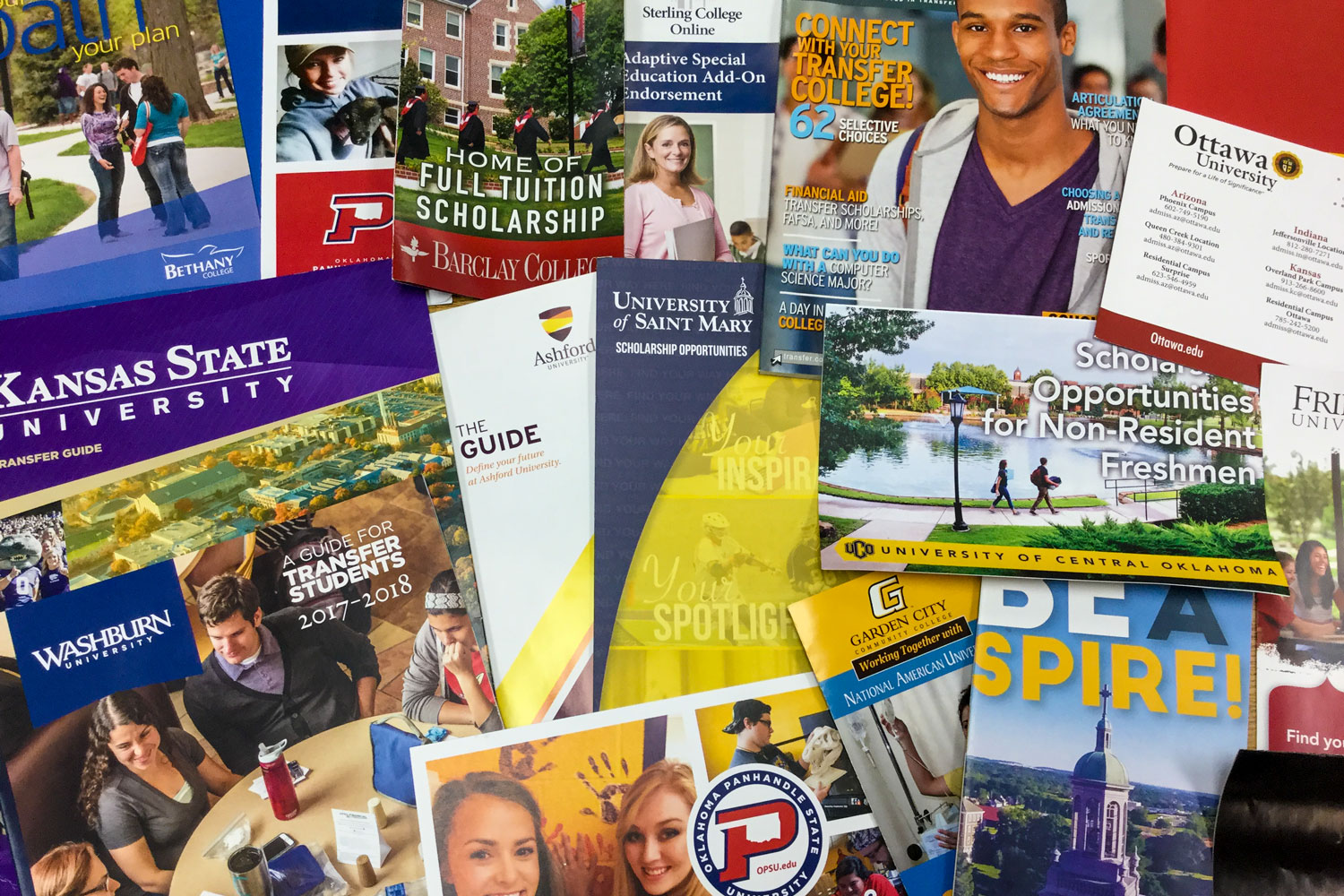 SCCC offers students a chance to transfer to larger universities, many of these that are in Kansas. These pamphlets can be found in front of the student success center.