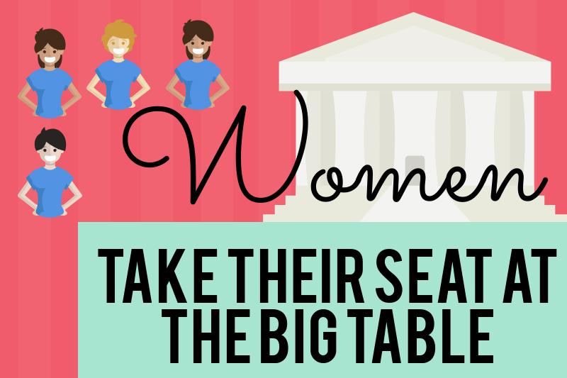 Women take seat at the big table