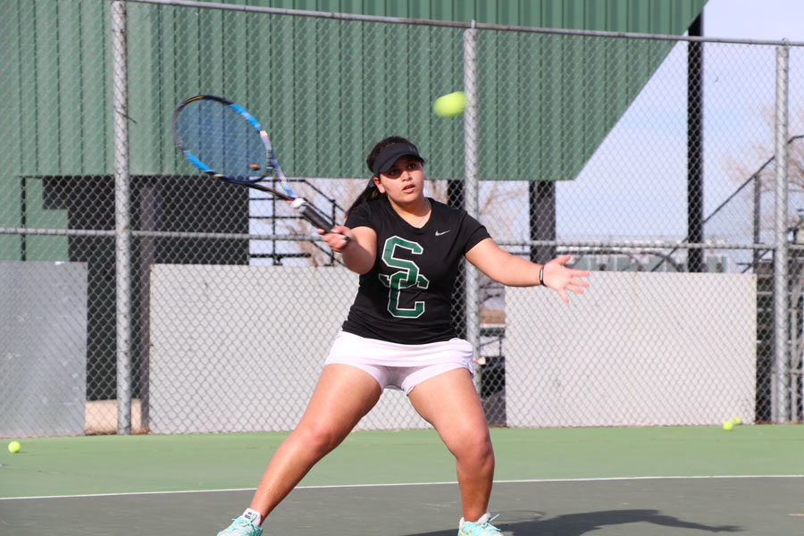The+SCCC+women%27s+tennis+team+is+No.+5+in+the+nation.+The+Lady+Saints+are+5-3+and+went+2-2+at+the+tournament.+%28File+Photo%29